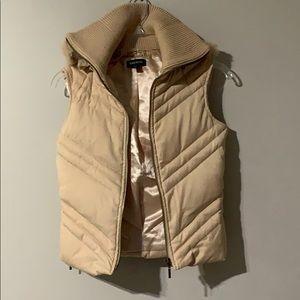 BEBE - Light Tan Puffer Vest - Size XS